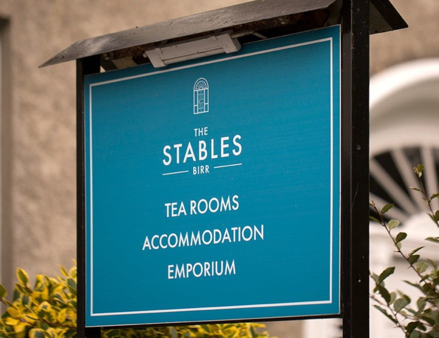 the signage outside of the stables birr