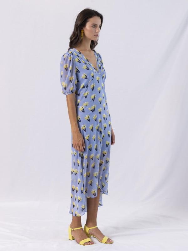 long dress v neck short sleeve fleuredelis 5