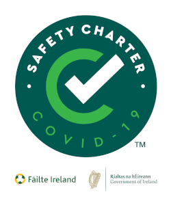 a covid safety charter seal of approval from failte ireland